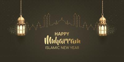 felice anno nuovo design islamico muharram