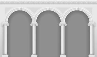porticato bianco antico vettore