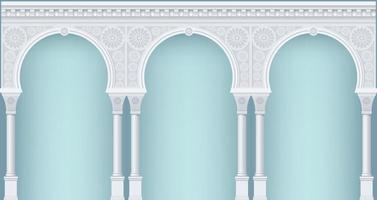 porticato in stile orientale