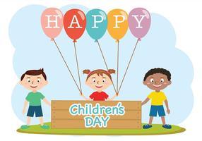 Vettore felice di giorno dei bambini