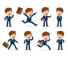 set di caratteri dell'uomo d'affari di lavoro