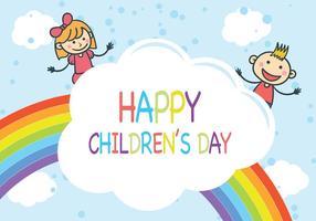 Vettore di giorno dei bambini dell'arcobaleno