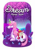 bellissimo unicorno con principessa carina