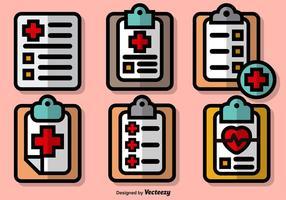 Insieme di vettore delle icone variopinte del cuscinetto di prescrizione