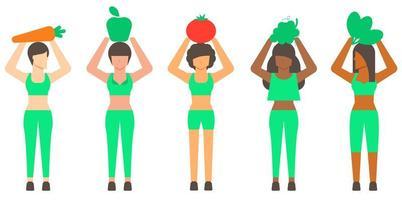 carattere di donna concetto sano