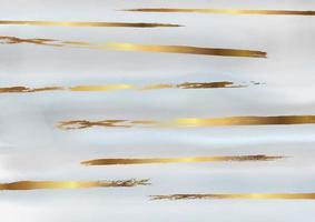 disegno dell'acquerello decorativo oro e grigio vettore