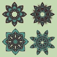 disegni decorativi mandala floreale vettore