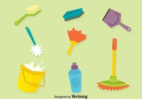 Insieme di vettore degli strumenti di pulizia