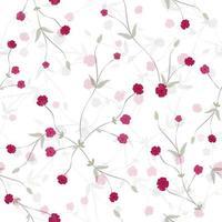 modello senza cuciture floreale elegante piccolo bocciolo rosa