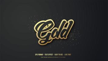 effetto stile testo con scritta oro 3d