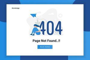 pagina di errore del concetto di progetto 404 non trovata vettore