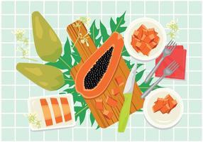 Illustrazione di papaia gratis vettore