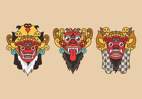 Vettore indonesiano della cultura di Barong Bali