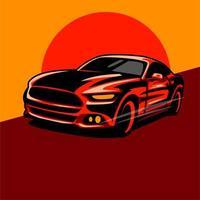 disegno rosso dell'automobile sportiva vettore