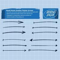 set di frecce schizzo disegnato a mano
