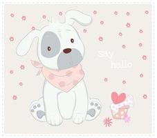 cucciolo di cane con sciarpa
