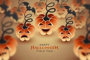 disegno di zucche di halloween vettore