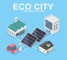 comunità della città eco vettore