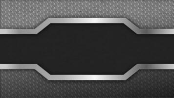 design esagonale inossidabile con spazio testo vettore