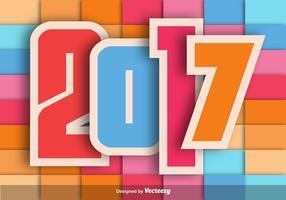 2017 Sfondo colorato vettoriale