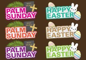 Titoli di Palm Sunday vettore
