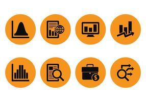 Icone di mercato analys vettore