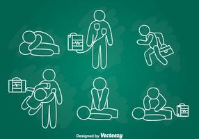 Emergenza First Aid Hand Draw Vector
