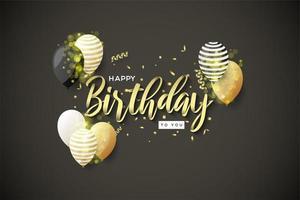 impostazione celebrazione del compleanno vettore