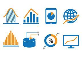 Icone del diagramma di affari vettore