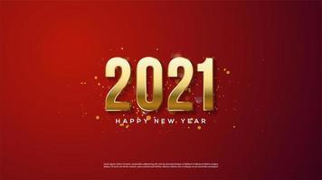 sfondo 2021 di oro 3d