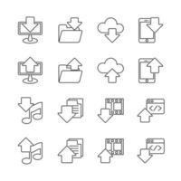 icona linea di base per interfaccia utente e web hosting