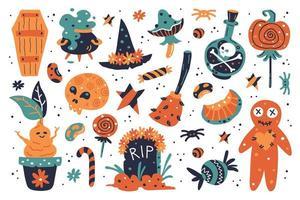 felice elementi di design di halloween