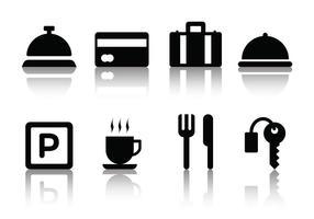 Icone dell'hotel minimalista gratis vettore