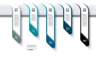 banner di passo di affari pensando infografica gestione della strategia