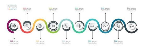 progettazione di strategia di idea di affari del circolo di flusso vettore