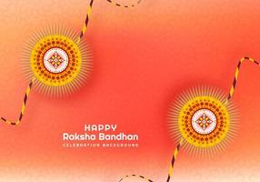 rakhi per il design della carta bandhan raksha vettore