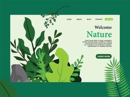 disegno del modello di pagina di destinazione natura vettore