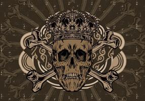 Corona cranio vettoriale