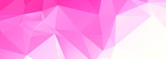 banner moderno poligono rosa vettore