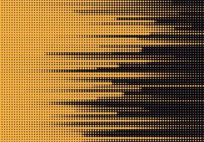 linee gialle punteggiate astratte sul nero vettore