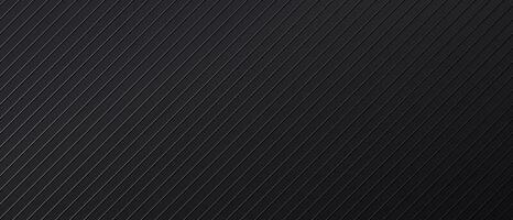 fondale astratto nero con linee parallele diagonali vettore