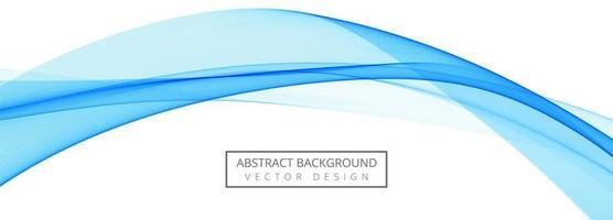 astratto blu creativo business wave banner vettore