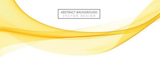 banner di onda fluente giallo astratto vettore