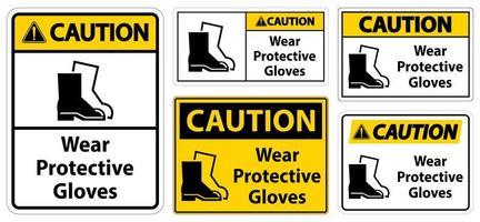 indossare un cartello di calzature protettive vettore