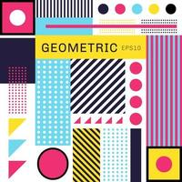 astratto geometrico colorato alla moda vettore