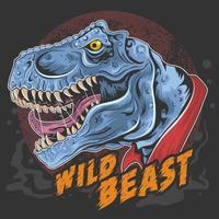 bestia dinosauro t-rex vettore