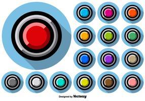 Collezione di pulsanti colorati stile arcade vettore