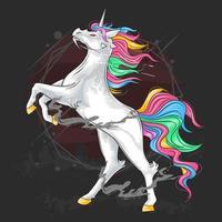 unicorni in piedi vettore