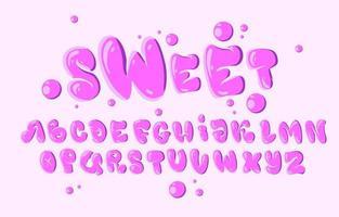 tipografia in stile bolla rosa