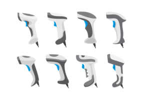 Set di icone scanner di codici a barre vettore